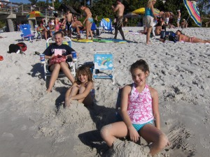 My daughters at the beach